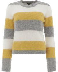 Roberto Collina Striped Mohair Jumper - Grey