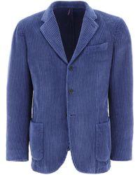 Biagio Santaniello Corduroy Blazer - Blue