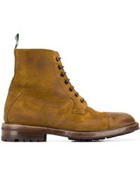 Green George Lace Up Ankle Boots - Brown