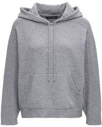 Alberta Ferretti Wool And Cotton Hoodie - Grey