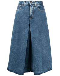 Maison Margiela Wide-leg Shorts - Blue