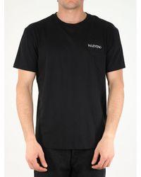 Valentino Men's Garden Cotton T-shirt - Black