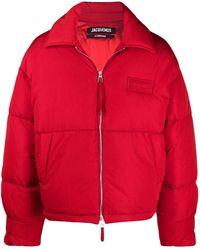 Jacquemus La Doudoune Flocon Puffer Jacket - Red
