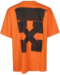 Off-White c/o Virgil Abloh Orange Cotton T-shirt