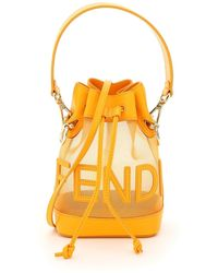 Fendi Mon Tresor Net Bucket Bag Script - Multicolour