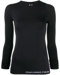 Rick Owens Fitted Long Sleeve Top - Black
