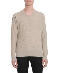 Ballantyne V Collar Jumper - Multicolour