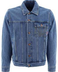Rassvet (PACCBET) Denim Jacket With Embroidery - Blue