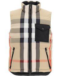 Burberry Romford Reversible Vest In Recycled Nylon - Multicolour