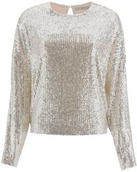 In the mood for love Alexandra Sequined Top - Grey