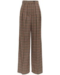 Jucca Check Oversize Trousers - Brown