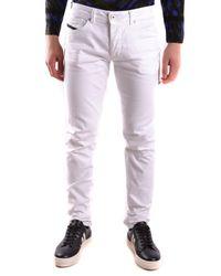 Diesel Black Gold Cotton Jeans - White