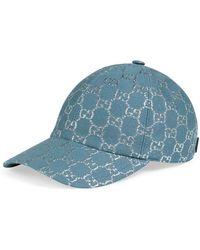 Gucci GG Lamé Baseball Cap - Blue