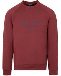Giorgio Armani Cotton Sweatshirt - Red