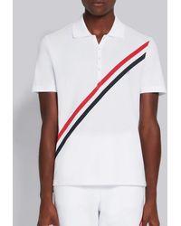 Thom Browne Polo Stripes Rwb - White