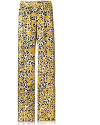 P.A.R.O.S.H. Printed Flared Trousers - White