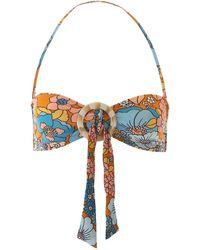 Dodo Bar Or Floral Bikini Top - Multicolor