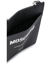 Moschino Strap Logo Card Holder - Black