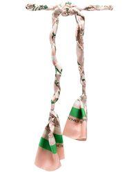 Ermanno Scervino Tie-fastening Silk Belt - Pink