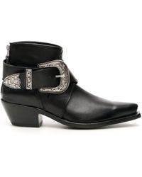 R13 Cowboy Boots - Black