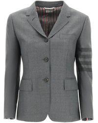 Thom Browne 4-bar Single-breasted Blazer - Grey