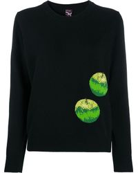 Paul Smith Intarsia-knit Apple Sweater - Black