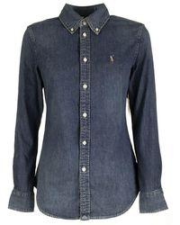 Ralph Lauren Custom-fit Denim Shirt - Blue