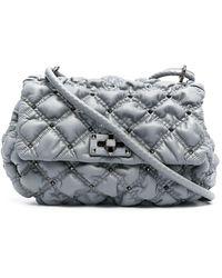Valentino Garavani Medium Spikeme Crossbody Bag - Gray