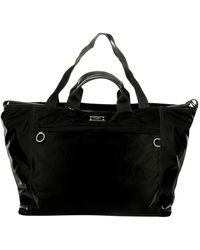 Dolce & Gabbana Nylon Travel Bag With Logo - Black