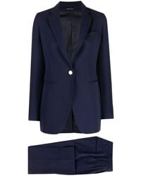 Tagliatore - Two-piece Single Breasted Blue Suit - Lyst