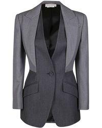 Alexander McQueen Grey Wool Blazer