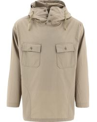 Engineered Garments Buttoned Neck Hooded Jacket - Natural