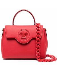 Versace Medium La Medusa Shoulder Bag - Red