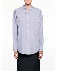 Balenciaga Double Front Shirt - Blue