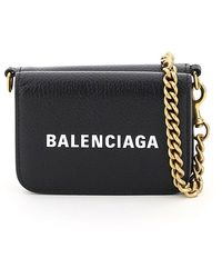 Balenciaga Cash Mini Micro Bag With Chain - Black