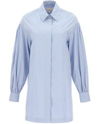 Loulou Studio Zena Striped Shirt Dress - Blue