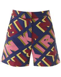 Kirin Shorts With Lettering - Blue