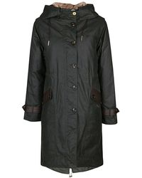 Barbour Black Cotton Trench Coat - Green