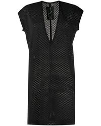 Rick Owens Longline Mesh T-shirt - Black