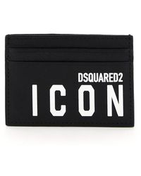 DSquared² Icon Print Card Holder - Black