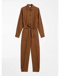 Max Mara Wool Twill Suit Dakar - Brown