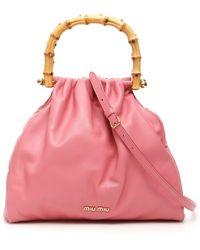 Miu Miu Bamboo Nappa Bag - Pink