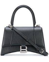 Balenciaga Hourglass Top Handle Bag - Black