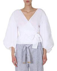 MICHAEL Michael Kors V-neck Top - White