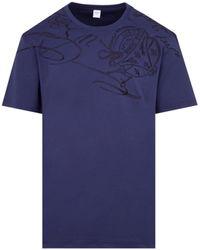 Berluti Signature Logo T-shirt Tshirt - Blue