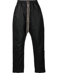 Rick Owens DRKSHDW Drawstring Drop Crotch Pants - Black