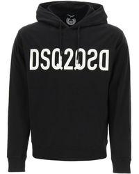 DSquared² Sweatshirt With New Logo Print - Black