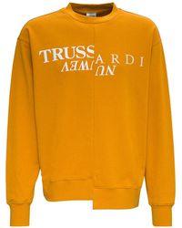 Trussardi Cut Up Jersey Sweatshirt With Logo - Orange