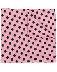 Miu Miu Polka Dot Print Scarf - Pink