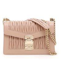 Miu Miu Medium Miu Confidential Shoulder Bag - Pink